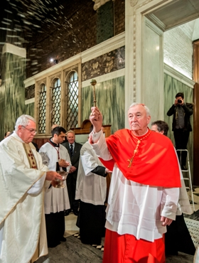 The newly created Cardinal Vincent Nichols
